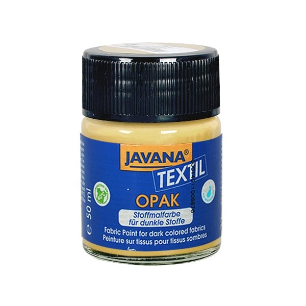 Текстилна боя, Opak JAVANA, 50 ml /за светла  и тъмна основа/ Текстилна боя OPAK JAVANA, 50 ml, ванилия