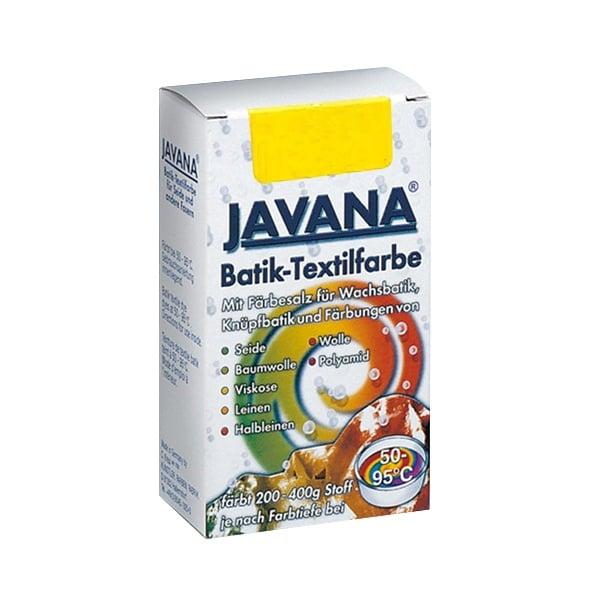 Текстилна боя за батик, JAVANA, 75g Текстилна боя за батик, JAVANA, 75g, жълта