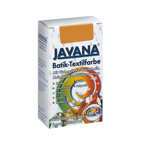 Текстилна боя за батик, JAVANA, 75g Текстилна боя за батик, JAVANA, 75g, кафява сърна