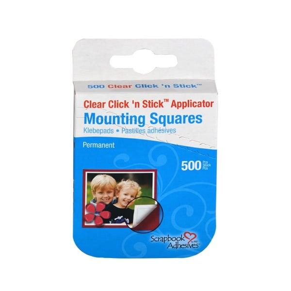 Click'n Stick двустранно лепящи 10x13mm Click'n Stick двустранно лепящи 10x13mm, прозрачни, стандартна, 500 бр.