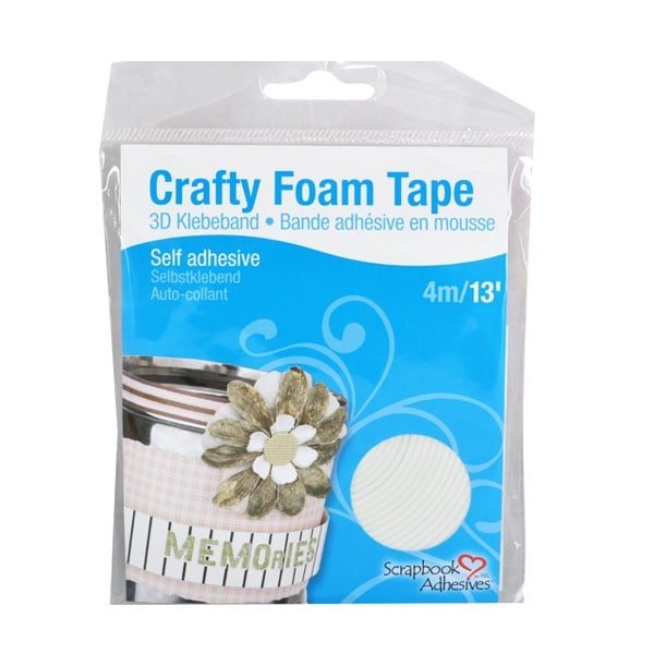Алуминиево фолио, 20 х 30 см / 0,15 мм, 3 бр., двуцветно - червено и сребристо Crafty Foam Tape, 4m x 2mm, бяла, стандартна