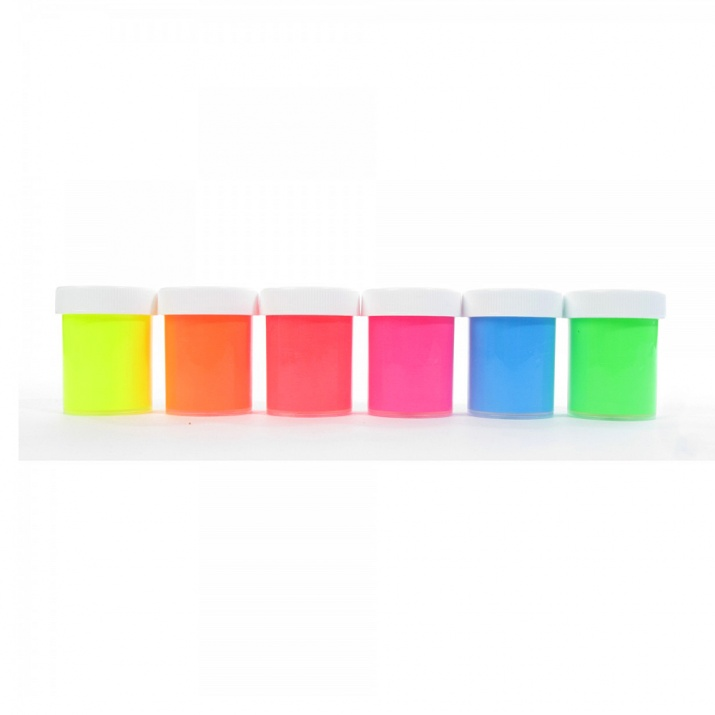 Комплект бои флуорисцентни CREALL, 6 цвята x 20 ml