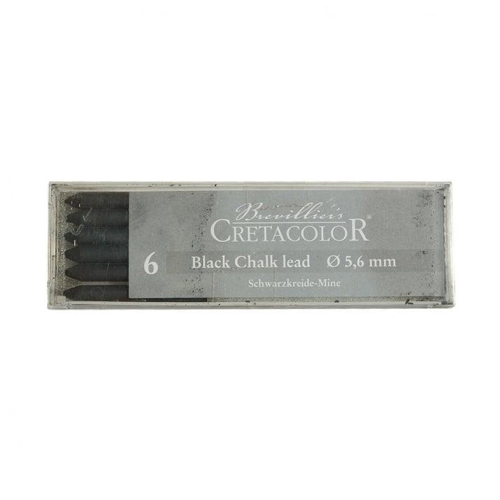 Пастелна сърцевина CretaColor, Black Pastel, medium