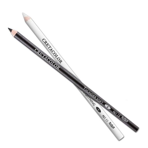 Потъмняващ + изсветляващ матиращи моливи Cretacolor, Thunder+Lightning