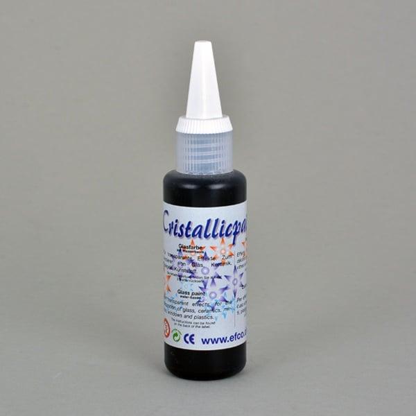Cristallicpaint, бои за стъкло, 50 ml   Cristallicpaint, 50 ml, черна