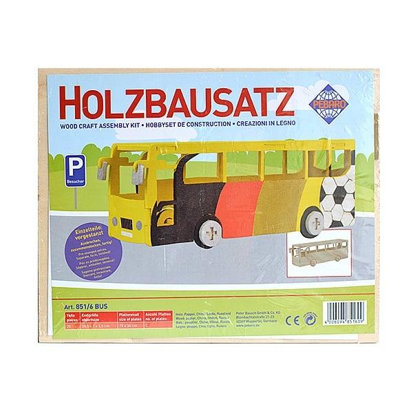 Алуминиево фолио, 20 х 30 см / 0,15 мм, 3 бр., двуцветно - червено и сребристо Дървен комплект за сглобяване, Автобус