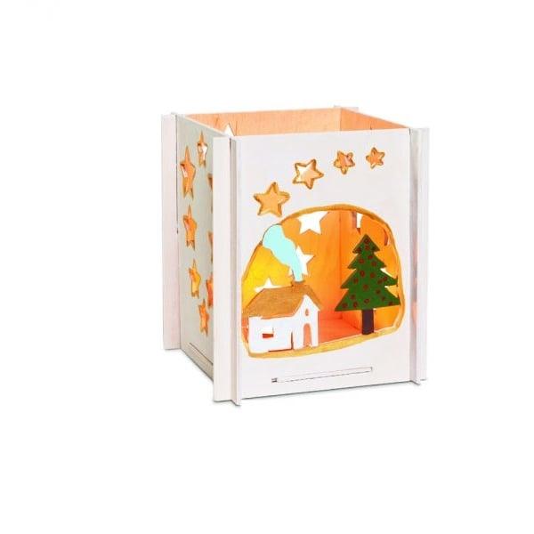Алуминиево фолио, 20 х 30 см / 0,15 мм, 3 бр., двуцветно - червено и сребристо Дървен комплект за сглобяване, Чаен свещник къща с елха
