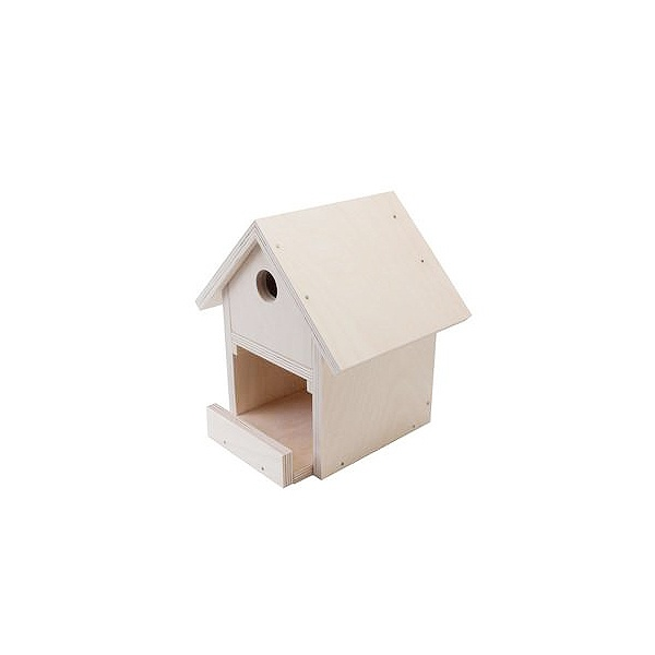 Дървен комплект за сглобяване DIY, Къщичка за птици