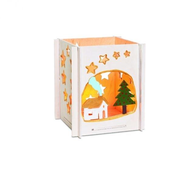 Алуминиево фолио, 20 х 30 см / 0,15 мм, 3 бр., двуцветно - червено и сребристо Дървен комплект за сглобяване, Коледна Пирамида