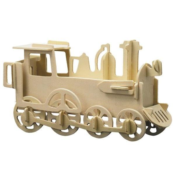 Алуминиево фолио, 20 х 30 см / 0,15 мм, 3 бр., двуцветно - червено и сребристо Дървен комплект за сглобяване, Парен локомотив