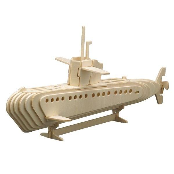 Алуминиево фолио, 20 х 30 см / 0,15 мм, 3 бр., двуцветно - червено и сребристо Дървен комплект за сглобяване, Подводница