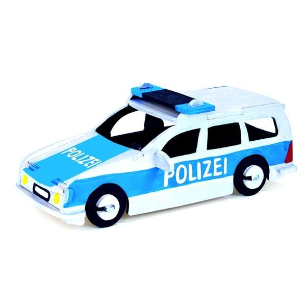 Алуминиево фолио, 20 х 30 см / 0,15 мм, 3 бр., двуцветно - червено и сребристо Дървен комплект за сглобяване, Полицейска кола