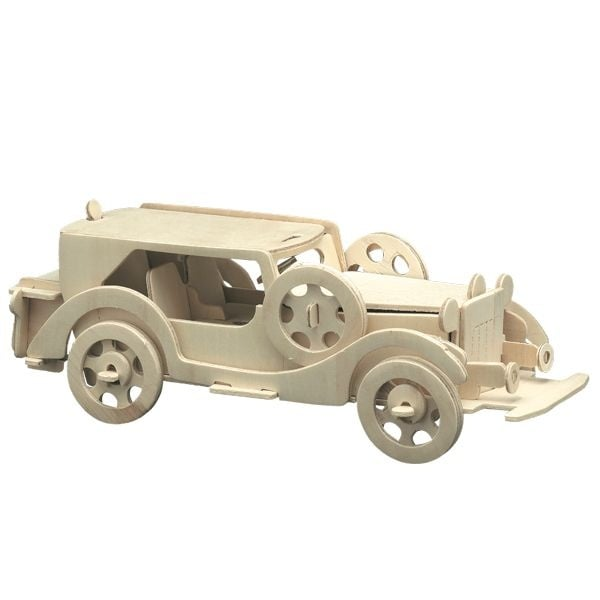 Алуминиево фолио, 20 х 30 см / 0,15 мм, 3 бр., двуцветно - червено и сребристо Дървен комплект за сглобяване, Ретро Ford V8