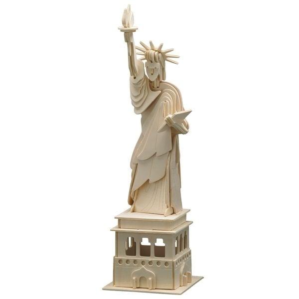 """Алуминиево фолио, 20 х 30 см / 0,15 мм, 3 бр., двуцветно - червено и сребристо Дървен комплект за сглобяване """"Статуята на свободата"""""""