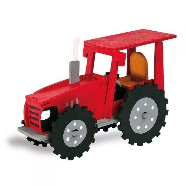 Алуминиево фолио, 20 х 30 см / 0,15 мм, 3 бр., двуцветно - червено и сребристо Дървен комплект за сглобяване, Трактор