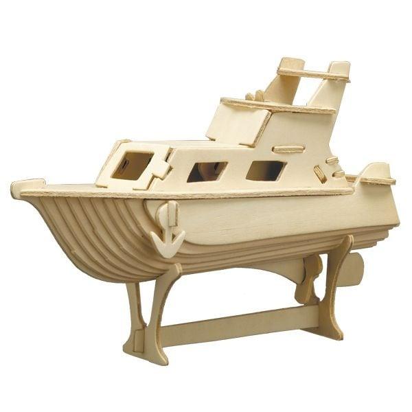 Алуминиево фолио, 20 х 30 см / 0,15 мм, 3 бр., двуцветно - червено и сребристо Дървен комплект за сглобяване, Яхта