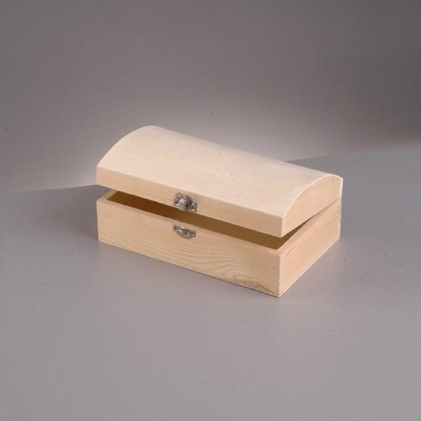 Дървен сандък, 13 x 5 x 4,5 cm, натурална