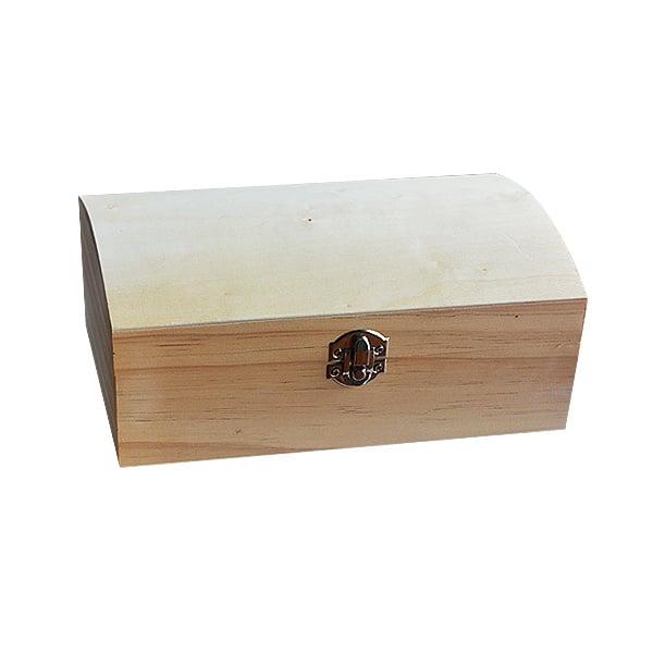 Дървен сандък, 22 x 14 x 9 cm, натурален