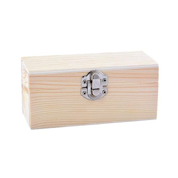 Дървена кутия, 13 x 5 x 6 cm, натурална