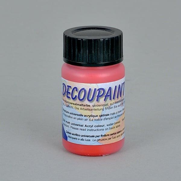 Decoupaint, 25 ml, акрилни бои  Decoupaint, 25 ml, акрилна боя, червена
