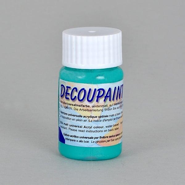 Decoupaint, 25 ml, акрилни бои  Decoupaint, 25 ml, акрилна боя, синьо-зелена