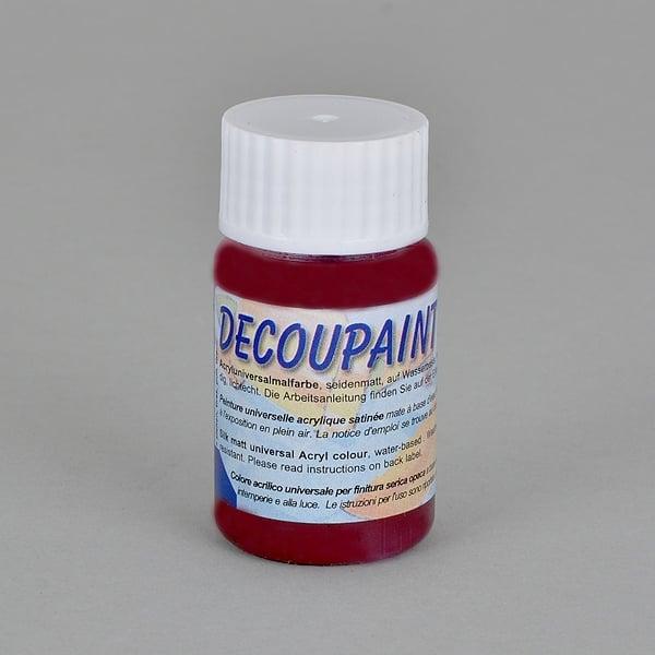 Decoupaint, 25 ml, акрилни бои  Decoupaint, 25 ml, акрилна боя, тъмно червено