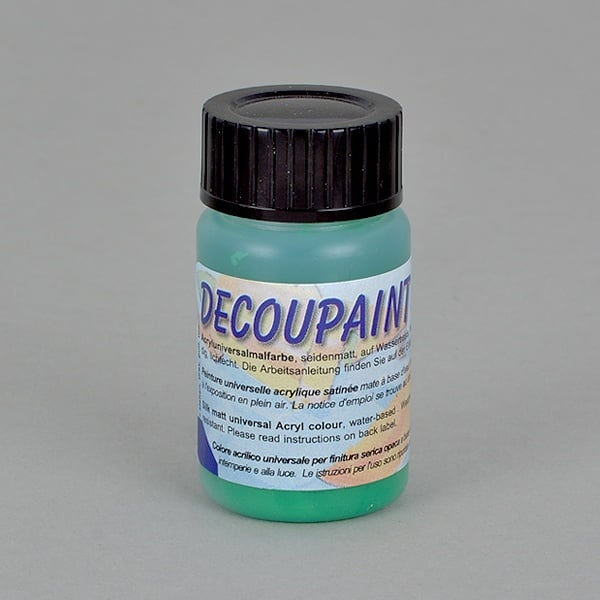 Decoupaint, 25 ml, акрилни бои  Decoupaint, 25 ml, акрилна боя, зелена