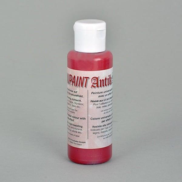 Decoupaint Antik, 50 ml, бои с ефектна структура  Decoupaint Antik, 50 ml, боя с ефектна структура, рубинено червена