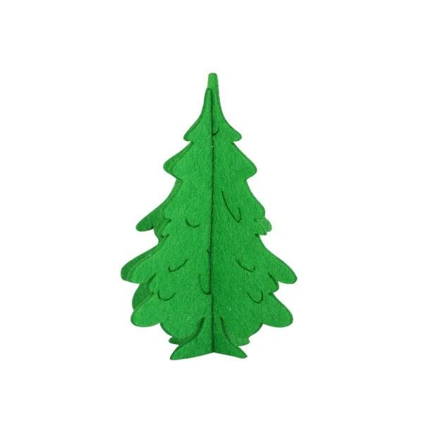 Деко фигурка 3D коледно дръвче, Filz, 100 mm Деко фигурка 3D коледно дръвче, Filz, 100 mm, светло зелена