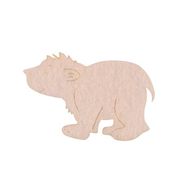 Деко фигурка бяла мечка, Filz, 40 mm