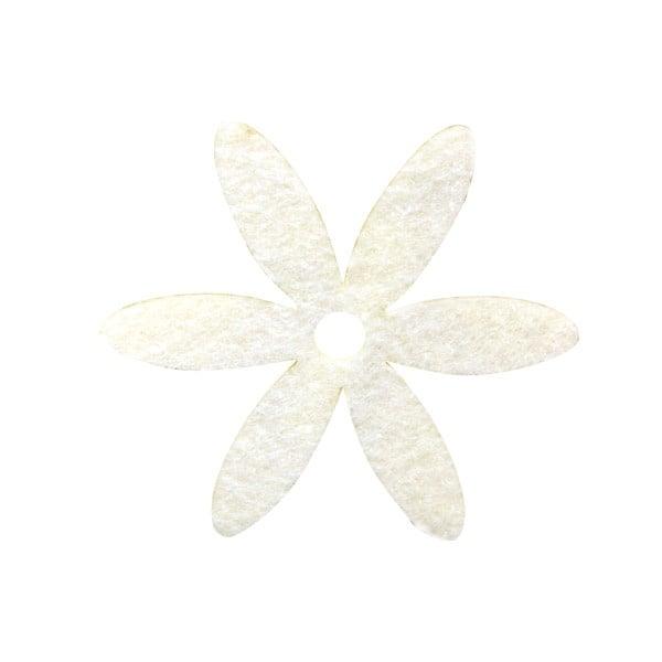 Деко фигурка цвете, филц Деко фигурка цвете, филц, 25 mm, бяло