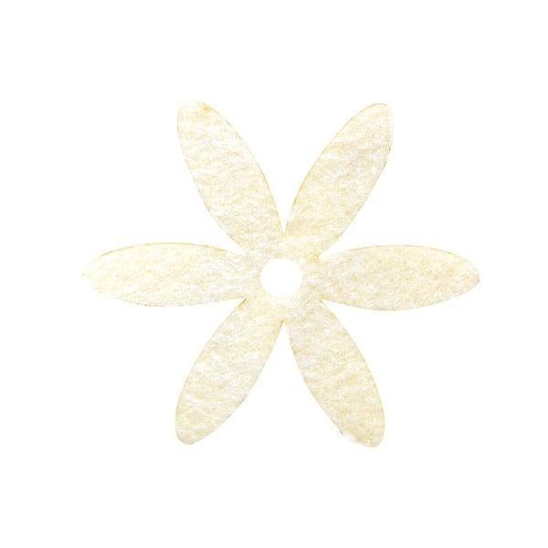 Деко фигурка цвете, филц Деко фигурка цвете, филц, 25 mm, кремаво