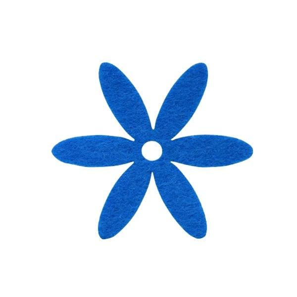 Деко фигурка цвете, филц Деко фигурка цвете, филц, 25 mm, лилаво