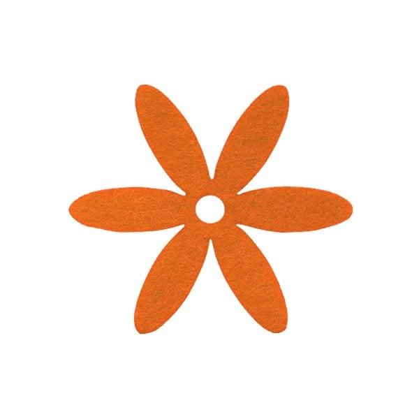 Деко фигурка цвете, филц Деко фигурка цвете, филц, 25 mm, оранжево