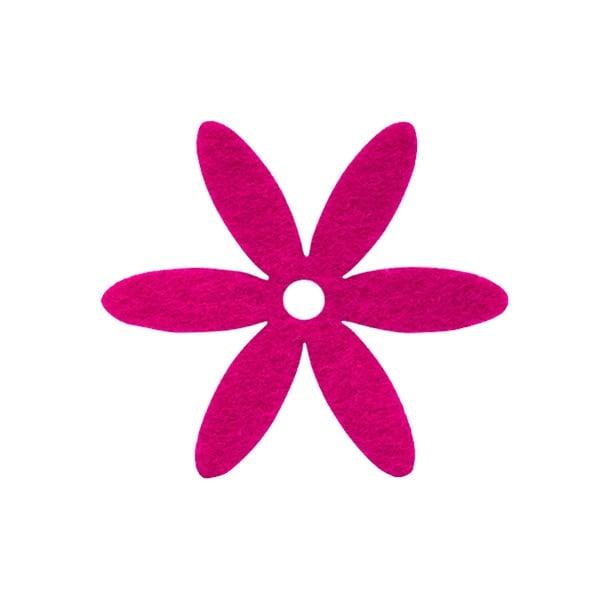 Деко фигурка цвете, филц Деко фигурка цвете, филц, 25 mm, прасковено
