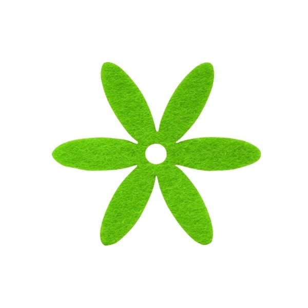 Деко фигурка цвете, филц Деко фигурка цвете, филц, 25 mm, тревно зелено