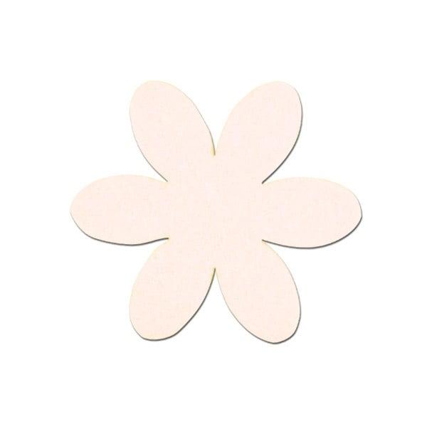 Деко фигурка цвете, филц Деко фигурка цвете, филц, 35 mm, кремаво