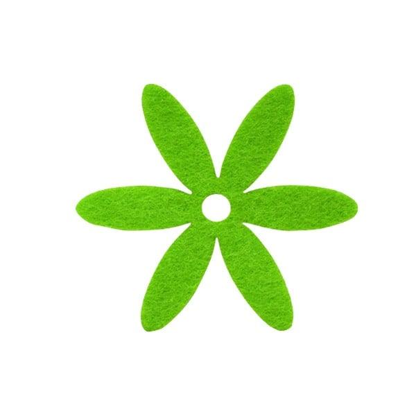 Деко фигурка цвете, филц Деко фигурка цвете, филц, 35 mm, тревно зелено