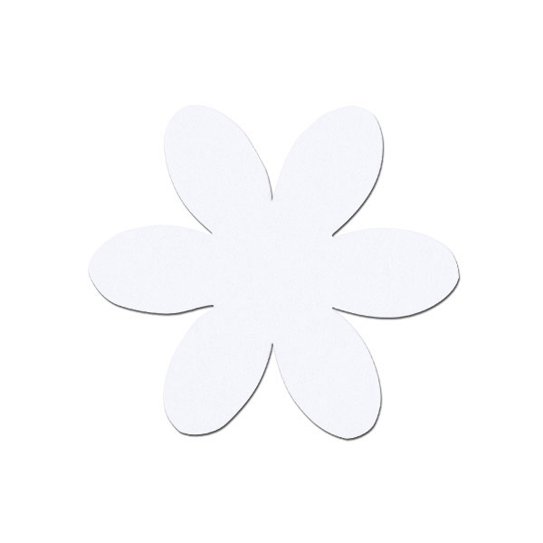 Деко фигурка цвете, филц, 50 mm Деко фигурка цвете, филц, 50 mm, бяло