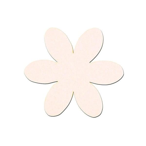 Деко фигурка цвете, филц, 50 mm Деко фигурка цвете, филц, 50 mm, кремаво