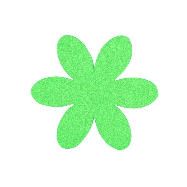 Деко фигурка цвете, филц, 50 mm Деко фигурка цвете, филц, 50 mm, тревно зелено