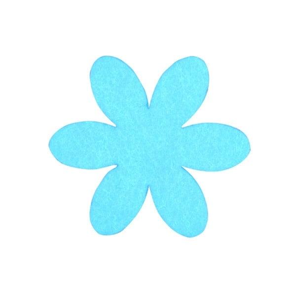 Деко фигурка цвете, филц, 50 mm Деко фигурка цвете, филц, 50 mm, турско синьо