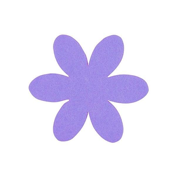 Деко фигурка цвете, филц, 50 mm, виолетово