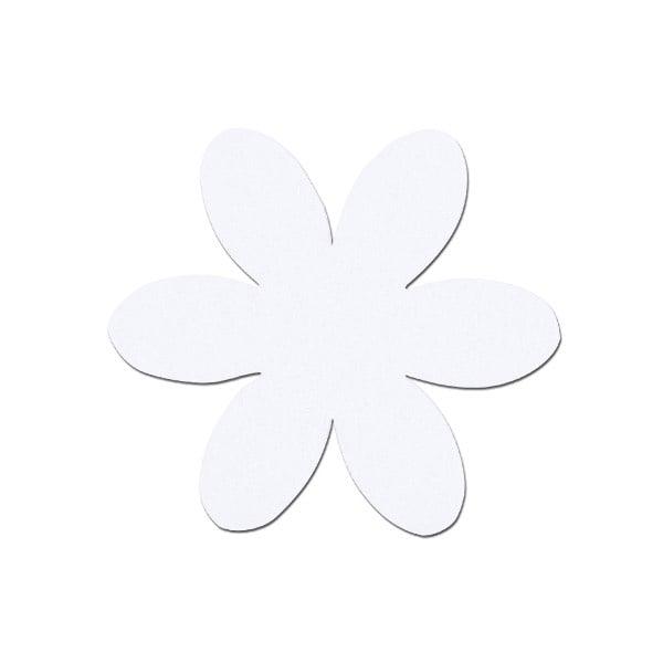 Деко фигурка цвете, филц, 65 mm Деко фигурка цвете, филц, 65 mm, бяло