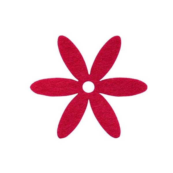 Деко фигурка цвете, филц Деко фигурка цвете, филц, 65 mm, червено