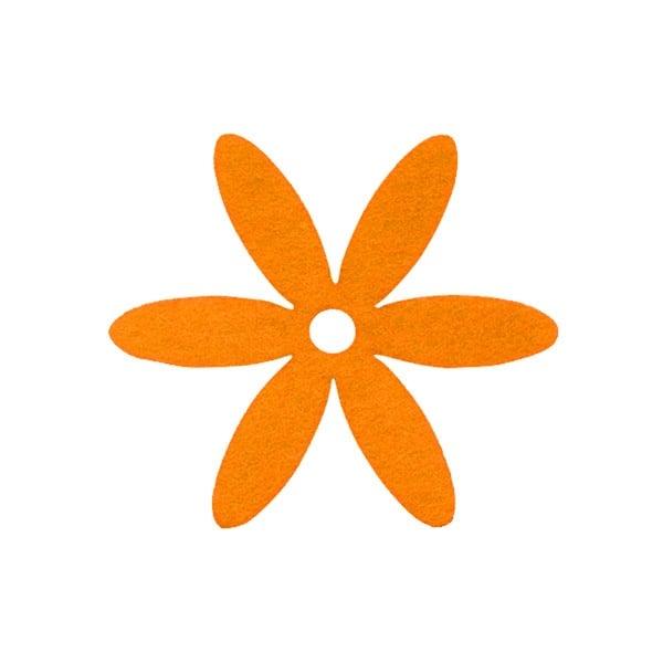 Деко фигурка цвете, филц Деко фигурка цвете, филц, 65 mm, жълто