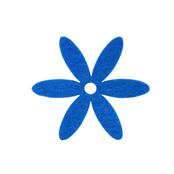 Деко фигурка цвете, филц Деко фигурка цвете, филц, 65 mm, лилаво