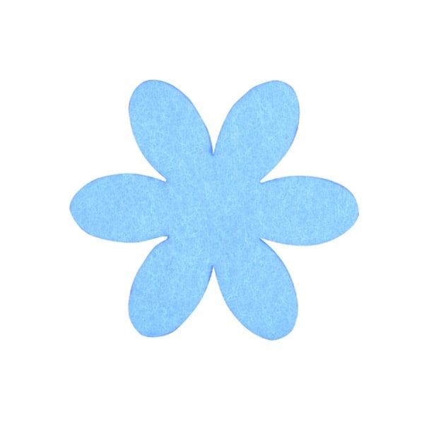 Деко фигурка цвете, филц, 65 mm Деко фигурка цвете, филц, 65 mm, небесно синьо