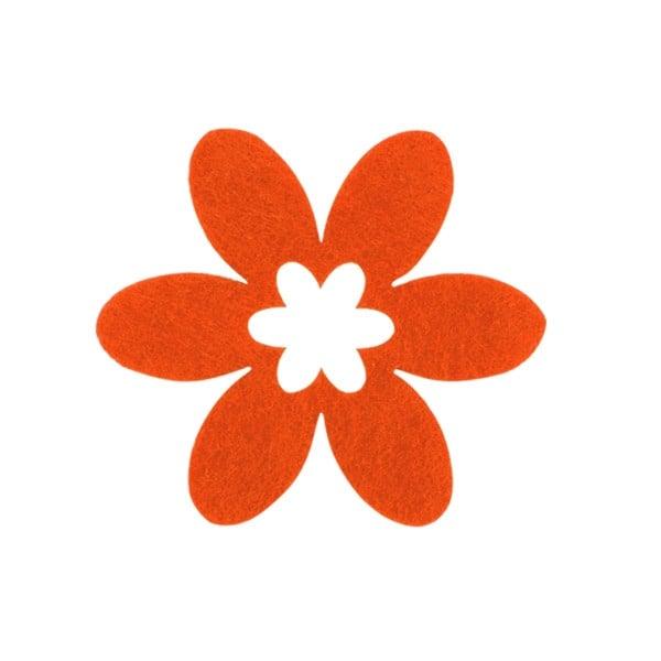 Деко фигурка цвете, филц, 65 mm