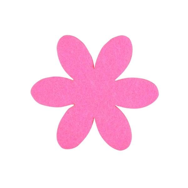 Деко фигурка цвете, филц, 65 mm Деко фигурка цвете, филц, 65 mm, прасковено